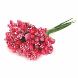 Pręciki do kwiatów ryżyk 12 szt. - ciemny róż - różowy ciemny