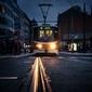 Praga, światło w ciemności - plakat premium wymiar do wyboru: 21x29,7 cm