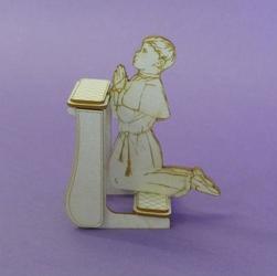 Komunijny chłopczyk na klęczniku 3D - CHP