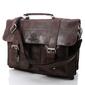 Włoska teczka torba męska skórzana vintage paolo peruzzi 045tm brązowa - brązowy