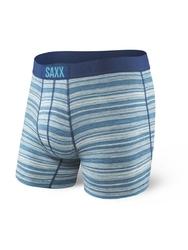 Bokserki męskie saxx vibe boxer modern fit miami heather stripe - niebieski