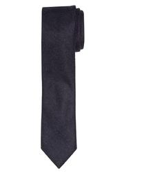 Granatowy krawat wełniany Profuomo