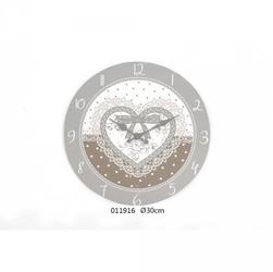 Drewniany zegar ścienny serce 30cm