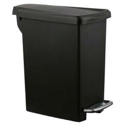 Simplehuman - kosz na śmieci 10l pedałowy slim - czarny