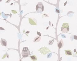 Tapeta 8563-33 ptaszki sowy