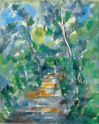Reprodukcja forest scene, paul cezanne