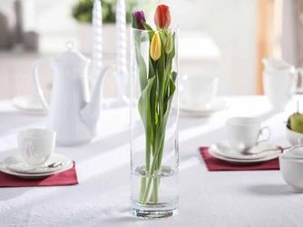 Wazon szklany na kwiaty cylinder 40 cm