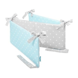 Ochraniacz do łóżeczka - lovely dots mint  grey