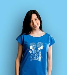 I love you. i know. t-shirt damski niebieski xs
