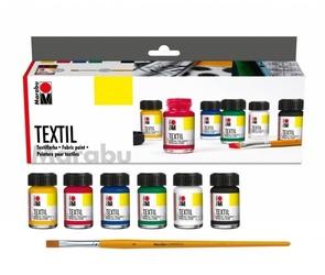 Zestaw farb do tkanin 6x15ml marabu textil