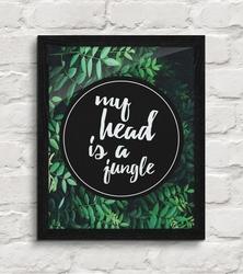 My head is a jungle - plakat