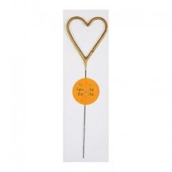 Meri meri - świeczka zimne ognie serce złota