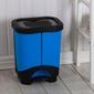 Kosz  pojemnik do segregacji śmieci podwójny z pedałem tontarelli idea 2 x 10,5 l niebieski