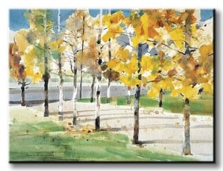 Autumn trees - obraz na płótnie