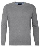 Szary sweter  pulower o-neck z bawełny pima  xxxl