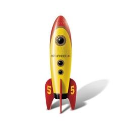 Retro pocket rocket – stymulator w kształcie rakiety  żółty