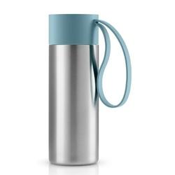 Eva solo - kubek termiczny to go cup 0,35l, troczek arctic blue - błękitny    srebrny