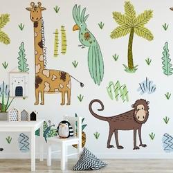 Tapeta dziecięca - pastel safari , rodzaj - tapeta flizelinowa