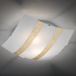 Szklany plafon sufitowy z kwadratowym kloszem nikosia 40