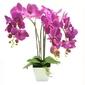 Sztuczna orchidea storczyk kwiaty doniczka fiolet