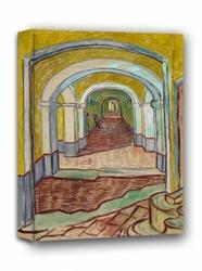 Corridor in the asylum, vincent van gogh - obraz na płótnie