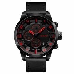 Zegarek męski SKMEI 1309 DATOWNIK black RED - RED