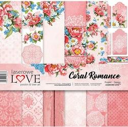 Papier do scrapbookingu 30x30cm Coral Romance - zestaw