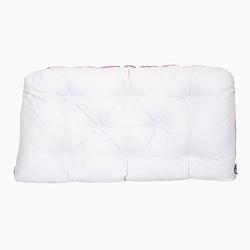 Poduszka-wezgłowie duża - biała z różową lamówką