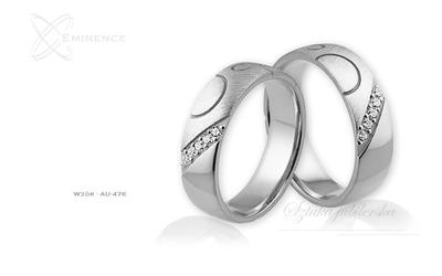 Obrączki ślubne - wzór au-476