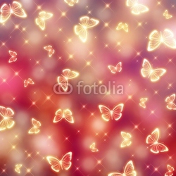 Obraz na płótnie canvas dwuczęściowy dyptyk motyl światła