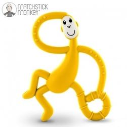 Matchstick monkey dancing yellow terapeutyczny gryzak masujący ze szczoteczką