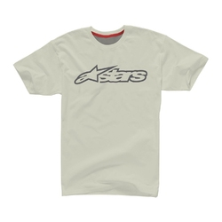 Koszulka alpinestars blaze 2 tee white melange-steel grey 1101015-267