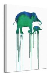 Asian elephants - obraz na płótnie
