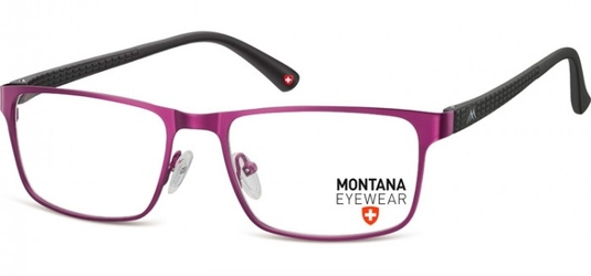 Oprawki prostokątne optyczne montana mm610e fioletowe