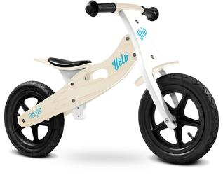Toyz velo natural drewniany rowerek biegowy pompowane koła + prezent 3d