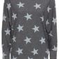 Shirt dzianinowy w gwiazdy bonprix antracytowo-jasnoszary melanż