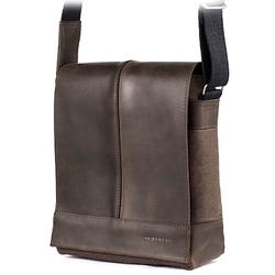 Skórzana torba męska raportówka brodrene ml17 ciemnobrązowa - c. brązowy