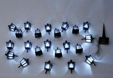 Lampki solarne w kształcie latarni 24 sztuki, oświetlenie ogrodowe