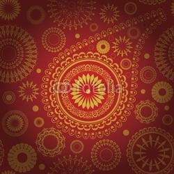 Obraz na płótnie canvas czteroczęściowy tetraptyk paisley bez szwu