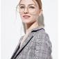 Okulary damskie zerówki duże lenonki srebrne