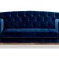 Sofa ros welurowa 2-osobowa granatowy