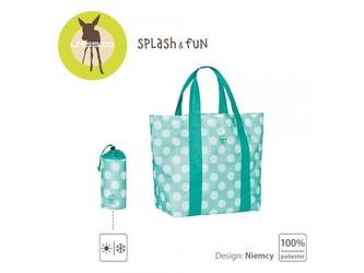 Dots aqua torba plażowa splash  fun