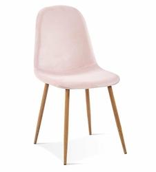 Krzesło SIMON różowy aksamit - jasno różowy