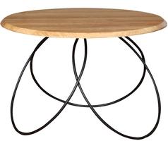 Okrągły stolik kawowy amal dąb industrialny