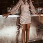 Cekinowa karnawałowa, sylwestrowa sukienka, złota 1040
