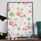 Plakat w ramie - flamingos , wymiary - 30cm x 40cm, ramka - czarna