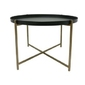 Hk living :: stolik tavolino ø63cm czarny
