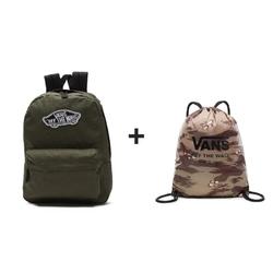 Plecak VANS Realm Backpack Grape Leaf - VN0A3UI6KCZ + Worek szkolny