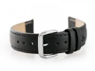 Pasek skórzany do zegarka w30 - w pudełku - czarny - 16mm