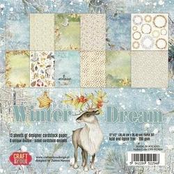 Papier ozdobny Winter Dream 30,5x30,5 cm - zestaw